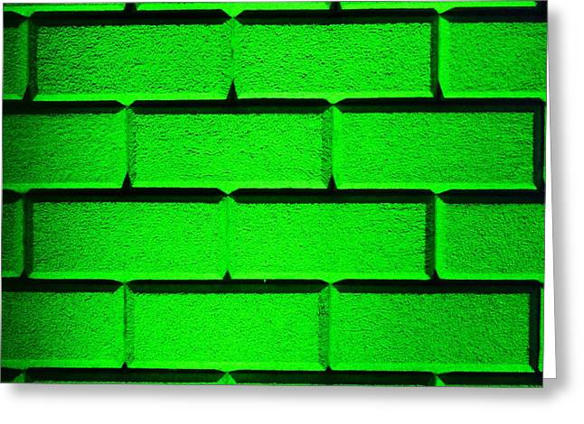 Green Wall Greeting Card by Semmick Photo