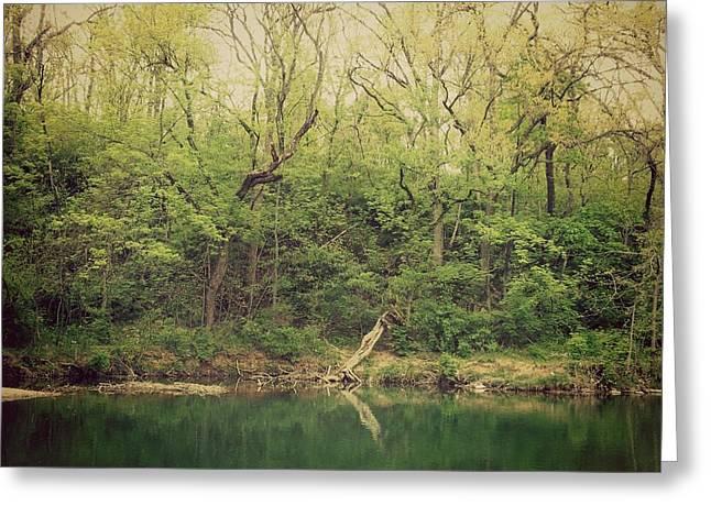 Green Waters  Greeting Card by Kiara Reynolds