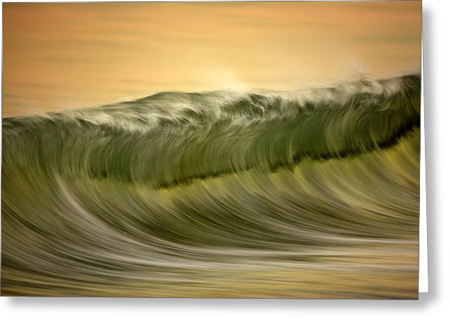 Green Wave #2  C6j7496 Greeting Card