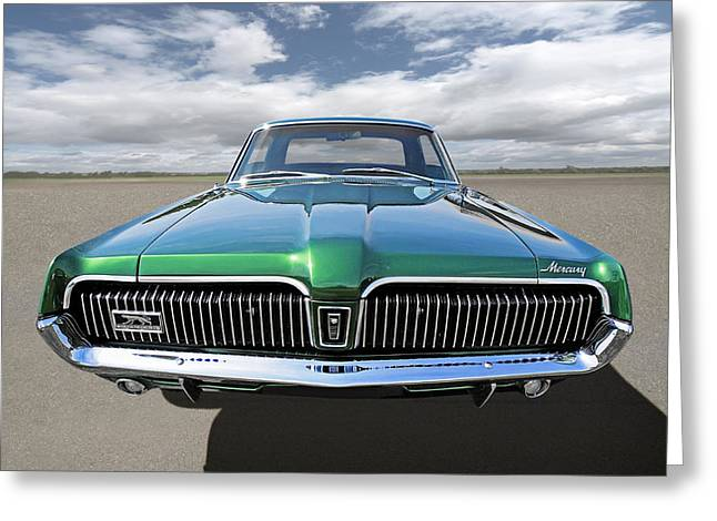 Green With Envy - 68 Mercury Greeting Card