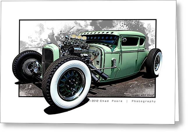 Green With Envy Greeting Card by Chad Poore