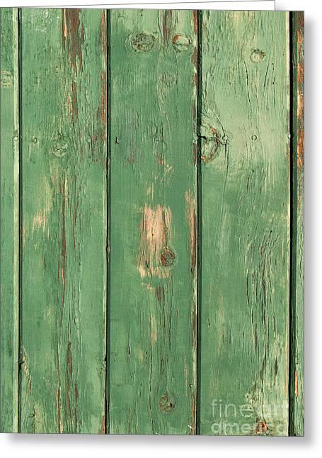 Green Wood Texture Greeting Card by Sheri Van Wert