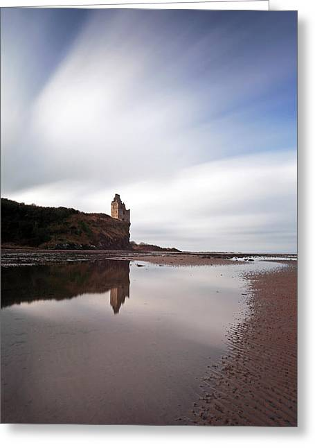 Greenan Castle Greeting Card by Grant Glendinning