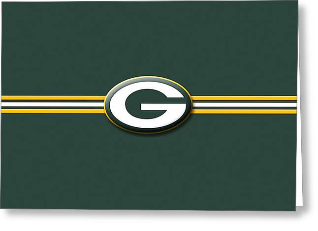 Greenbay Packers Greeting Card by Marvin Blaine
