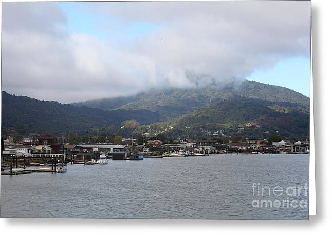 Greenbrae California Boathouses At The Base Of Mount Tamalpais 5d29350 Greeting Card