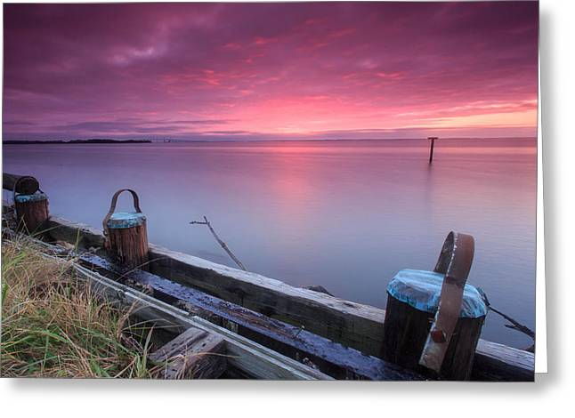 Greenbury Point Sunrise Greeting Card by Jennifer Casey
