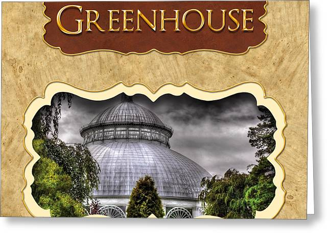 Greenhouse  Button Greeting Card by Mike Savad