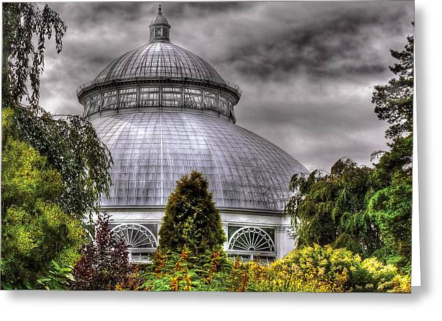 Greenhouse - The Observatory Greeting Card by Mike Savad