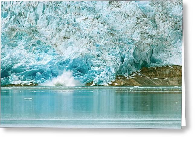 Greenland, Qaleraliq Glacier Greeting Card by David Noyes