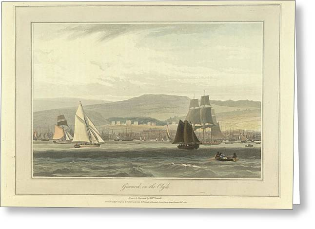 Greenock On The River Clyde Greeting Card by British Library