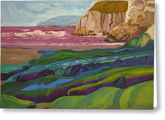 Greens And Blues Of Pismo Greeting Card