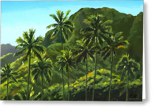Greens Of Kahana Greeting Card