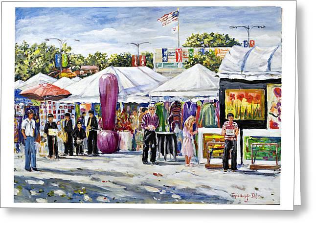 Greenwich Art Fair Greeting Card