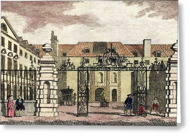 Greenwich Hospital Greeting Card by National Library Of Medicine