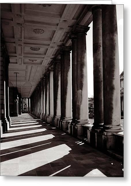 Greenwich Pillars Greeting Card by Dan Davidson