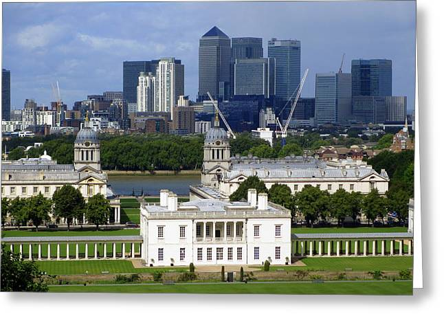 Greenwich View Greeting Card by Donald Turner