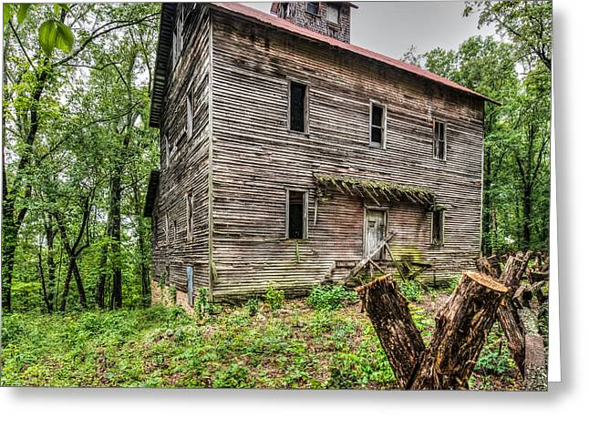 Greer Mill Greeting Card by Paul Freidlund