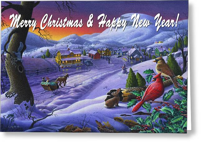 greeting card no 14 Merry Christmas and Happy New Year Greeting Card