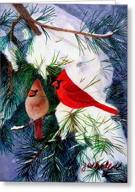 Greeting Cardinals Greeting Card