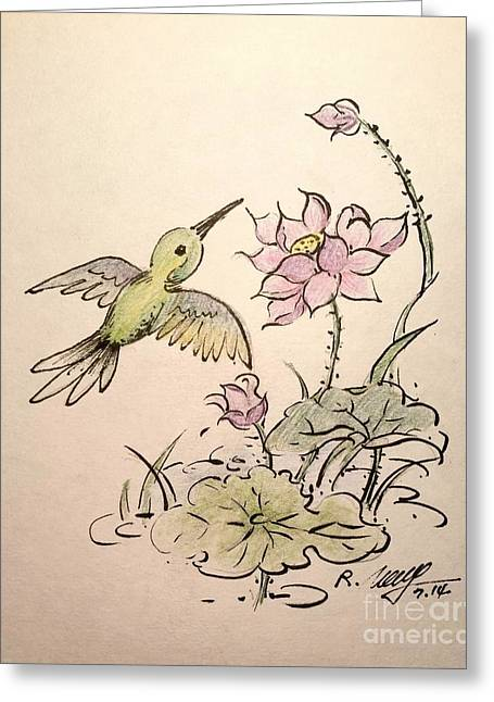 Greeting Hummingbird Greeting Card