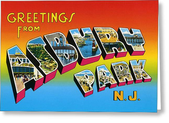 Greetings From Asbury Park Nj Greeting Card