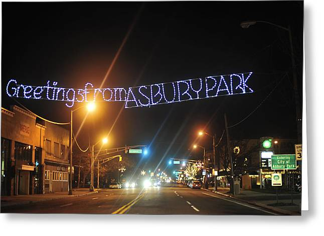 Greetings From Asbury Park Greeting Card