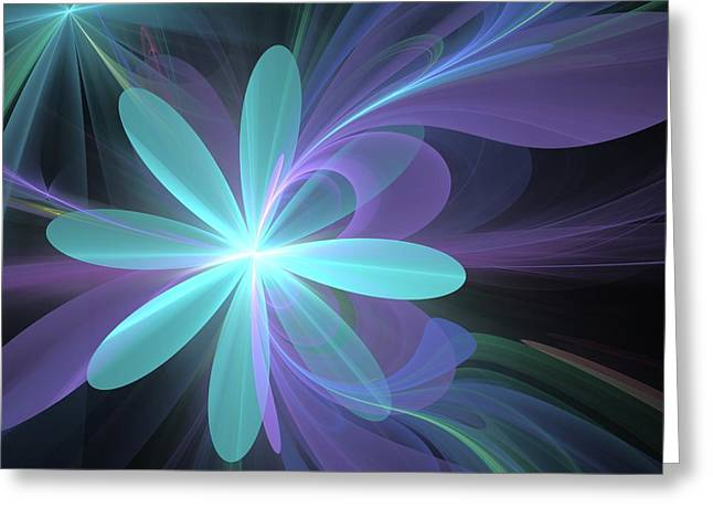 Greeting Card featuring the digital art Greetings From Ethereal Realms by Svetlana Nikolova