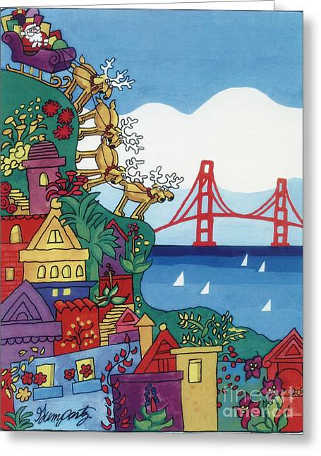 Greetings from san francisco mixed media by robert gumpertz greetings from san francisco greeting card by robert gumpertz m4hsunfo