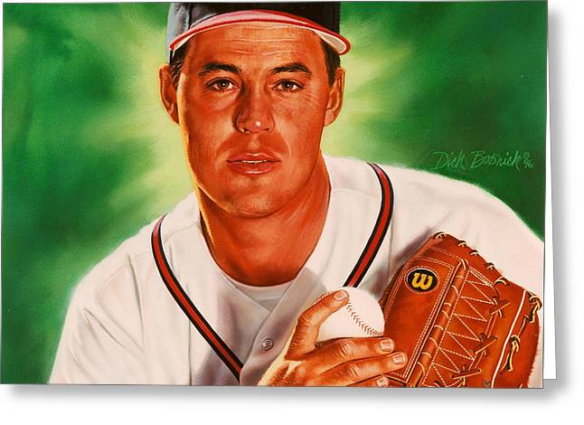 Greg Maddux Greeting Card