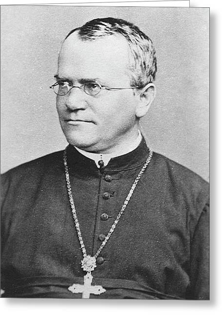 Gregor Mendel Greeting Card