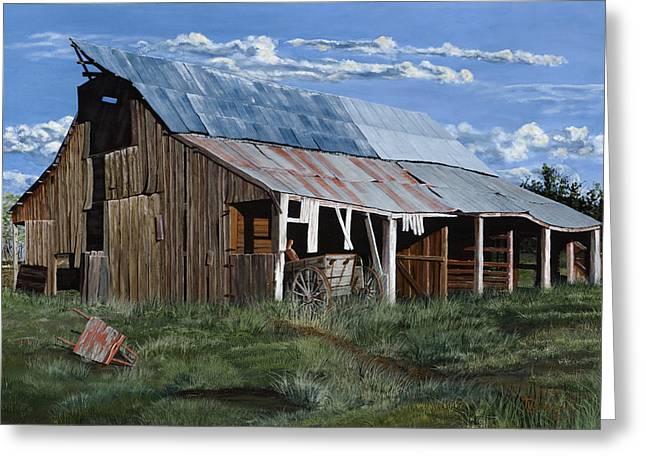 Greive's Barn Greeting Card by Timithy L Gordon