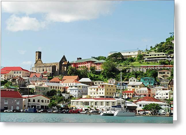 Grenada, St George, Carenage, View Greeting Card