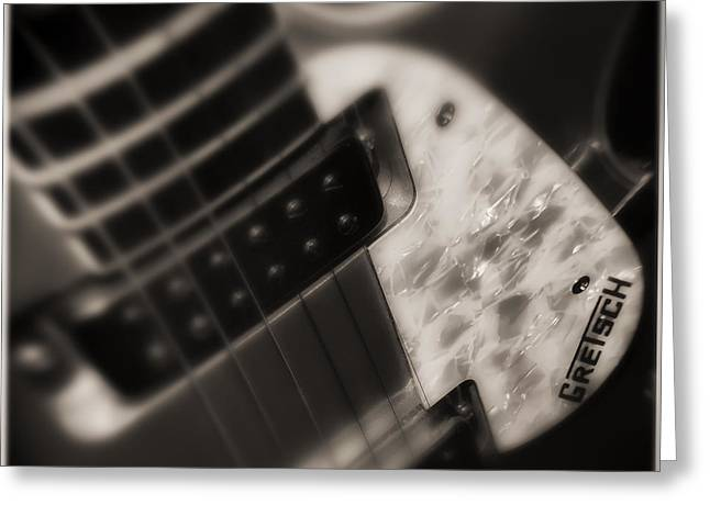 Gretsch Jet Guitar Greeting Card by Michael Demagall