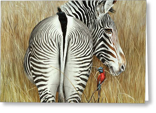 Grevy And The Bee Eaters Greeting Card