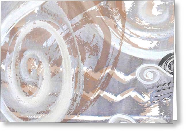 Grey Abstraction 2 Greeting Card by Eva-Maria Becker