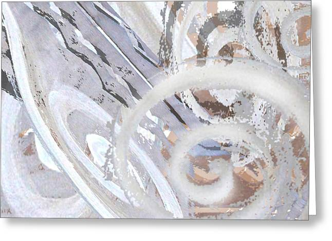 Grey Abstraction 3 Greeting Card by Eva-Maria Becker