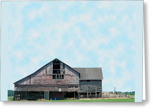 Greeting Card featuring the photograph Grey Barn by Gena Weiser