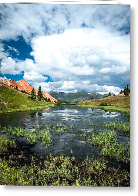 Greeting Card featuring the photograph Grey Copper Gulch by Jay Stockhaus