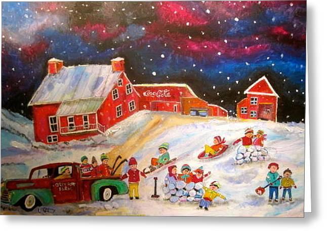 Grey Fox Farm Winter Greeting Card