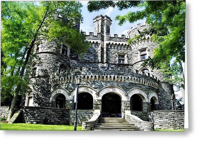 Grey Towers Castle - Beaver College Greeting Card by Bill Cannon