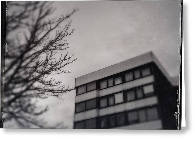 Grey Urban Architecture Greeting Card