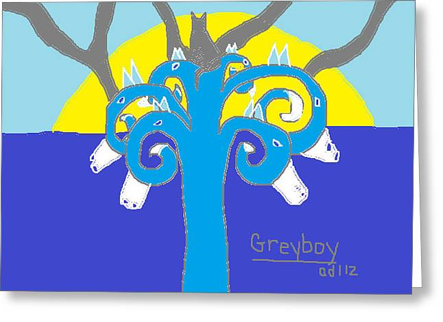 Greyboy The Strength Is On Your Side Greeting Card by Anita Dale Livaditis