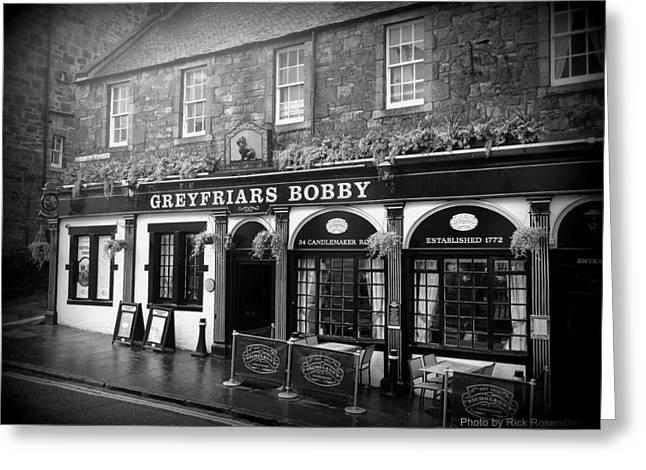Greyfriars Bobby In Edinburgh Scotland  Greeting Card
