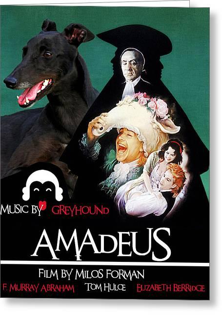 Greyhound Art Canvas Print - Amadeus Movie Poster Greeting Card