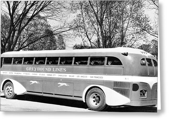Greyhound X-1 Super Coach Bus Greeting Card by Underwood Archives