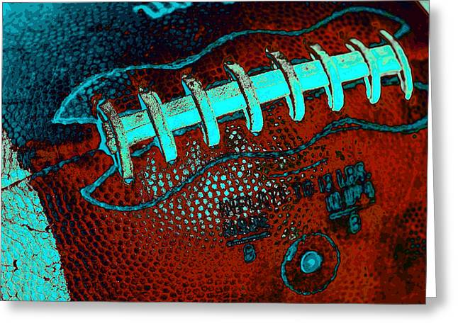 Gridiron Tool - The Football Greeting Card by David Patterson