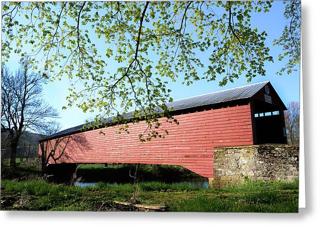 Griesemer's Covered Bridge Greeting Card by Bill Cannon