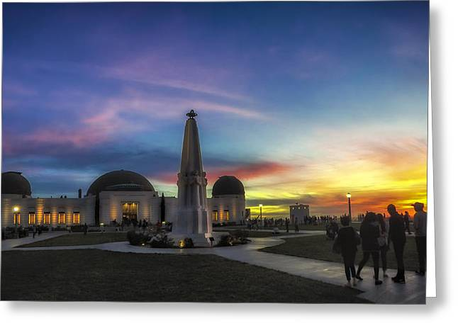 Griffith Observatory Greeting Card by Sean Foster