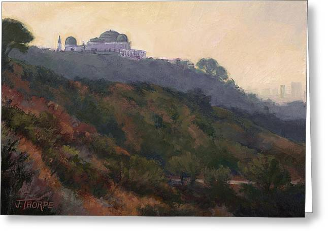 Griffith Park Observatory- Late Morning Greeting Card