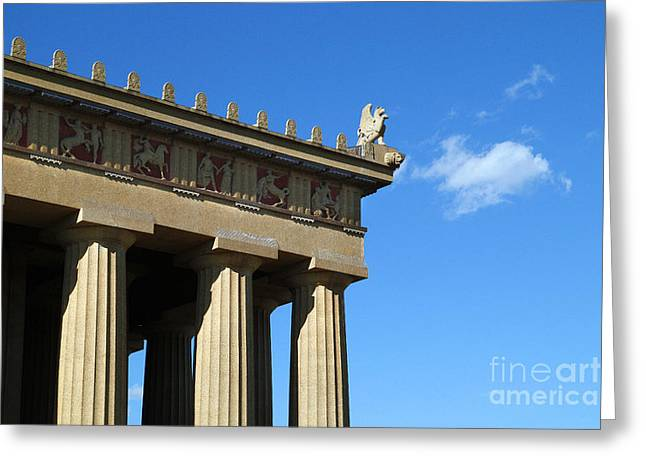 Griffon On The Parthenon  Greeting Card by Jeff Holbrook